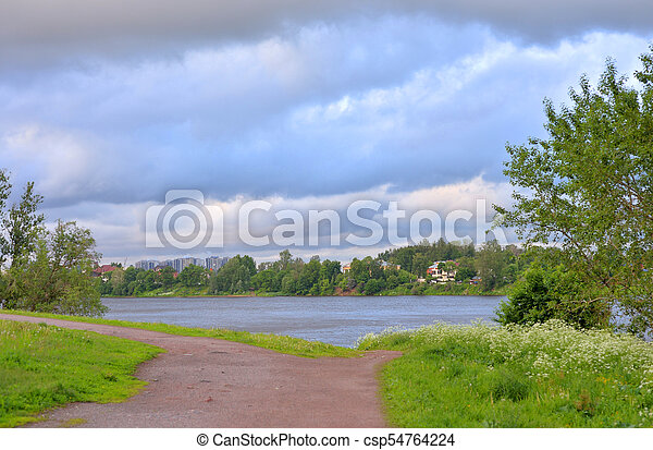 Park at summer. - csp54764224