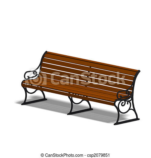 wooden park bench 3d render and shadow over white rh canstockphoto com Weiss Park Newark DE Park Setting