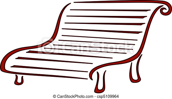 park bench for rest on walk symbolical monochrome image eps vector rh canstockphoto com  park bench clipart free