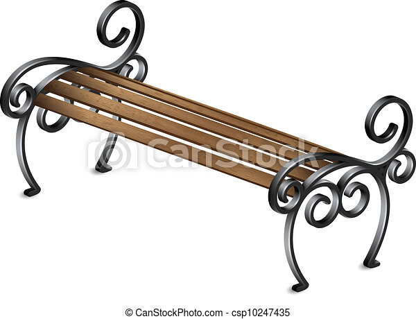 park bench vector illustration vectors search clip art rh canstockphoto com park bench clipart