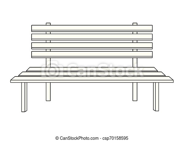 Cool Park Bench Icon Cartoon Isolated Black And White Machost Co Dining Chair Design Ideas Machostcouk
