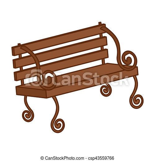 park bench icon over white background colorful design clip art rh canstockphoto com  park bench clipart black and white