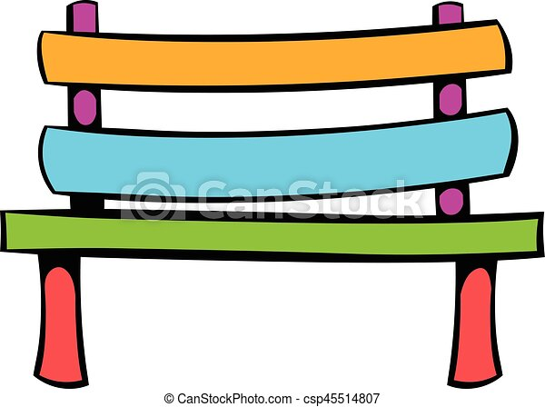 park bench icon icon cartoon park bench icon in icon in vector rh canstockphoto ca