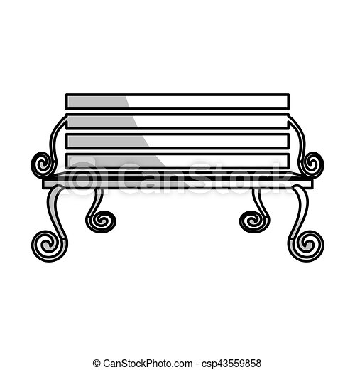 park bench icon image vector illustration design rh canstockphoto com