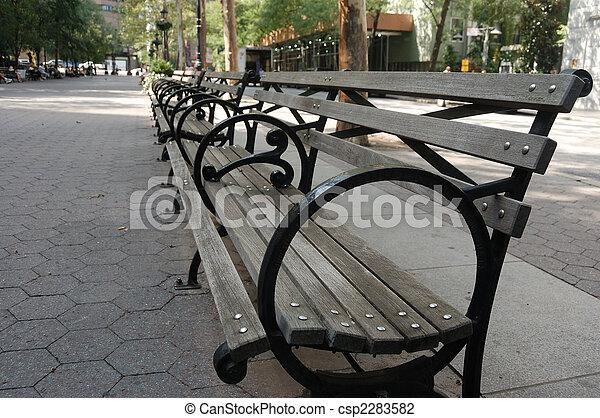 Park Bench In New York