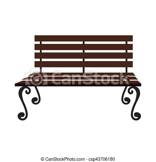 Park chair wooden icon vector illustration design vector - Search ...