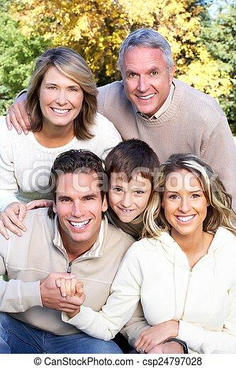 park., famille, heureux - csp24797028