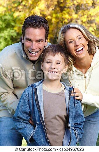 park., famille, heureux - csp24967026