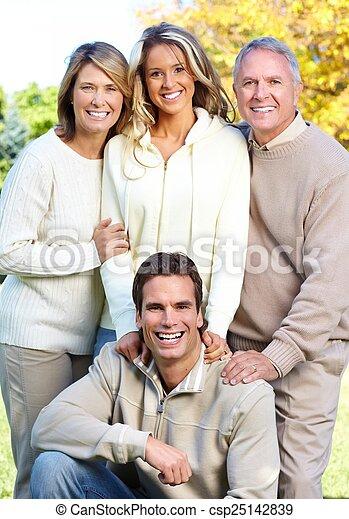 park., famille, heureux - csp25142839