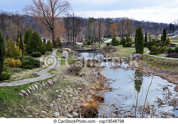 Park in early spring - csp19548798