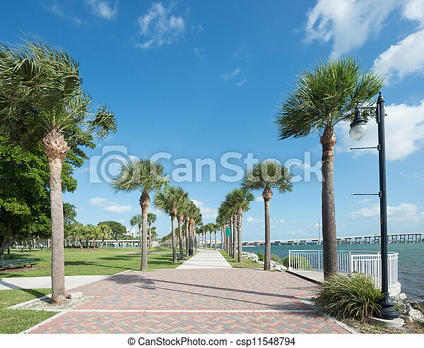 Park in Fort Pierce, Florida - csp11548794