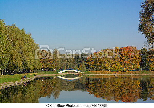 park in gold fall - csp76647798