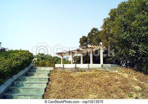 Park landscape pavilion - csp10213570