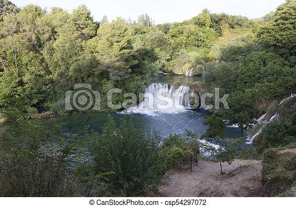 park, national, krka, kroatien - csp54297072