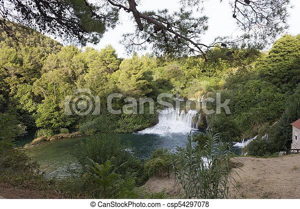 park, national, krka, kroatien - csp54297078