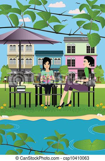 Restaurantes en el parque. - csp10410063