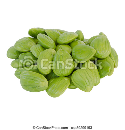 Parkia speciosa beans isolated on white background - csp39299193