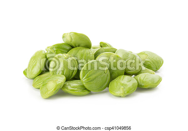 Parkia speciosa seeds or bitter bean on white background - csp41049856
