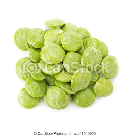 Parkia speciosa seeds or bitter bean on white background - csp41049925