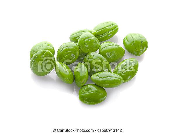 Parkia speciosa seeds or bitter bean on white background - csp68913142