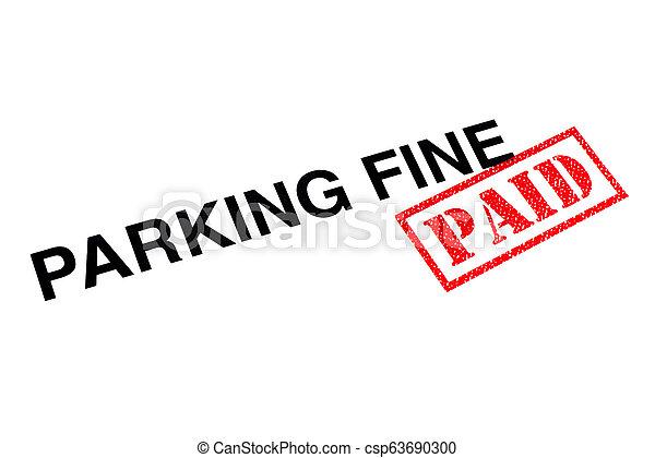 Parking Fine Paid - csp63690300