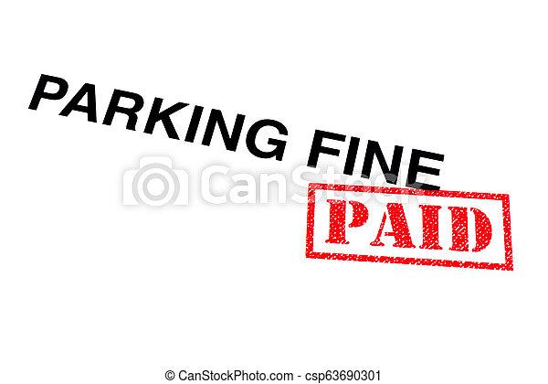 Parking Fine Paid - csp63690301