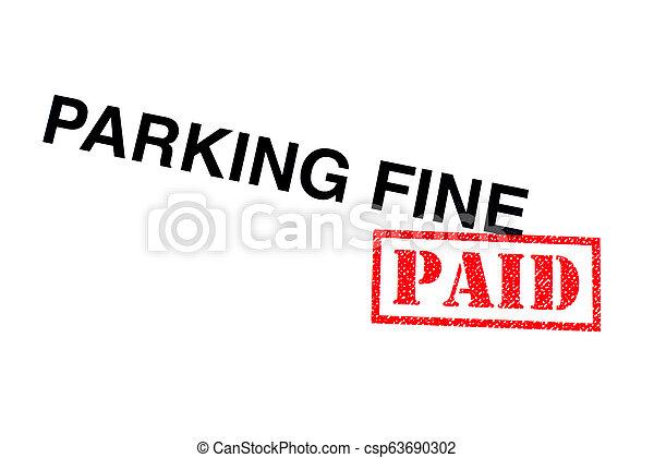 Parking Fine Paid - csp63690302