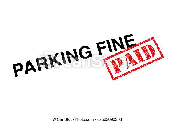 Parking Fine Paid - csp63690303