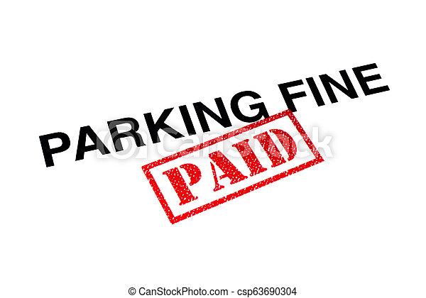 Parking Fine Paid - csp63690304