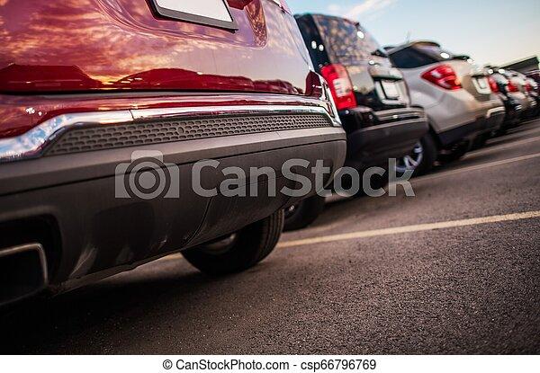 Parking Full of Cars - csp66796769