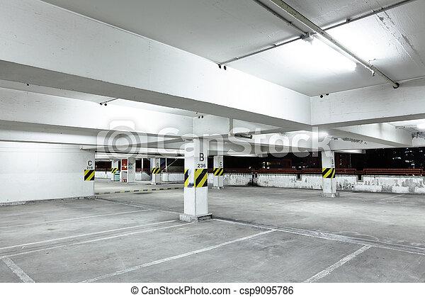parking garage at night - csp9095786