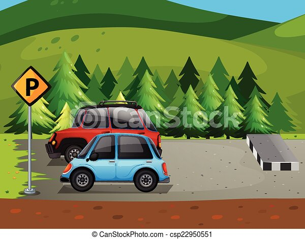 illustration of cars parking at the parking lot clipart vector rh canstockphoto com parking lot clip art images parking lot clip art free