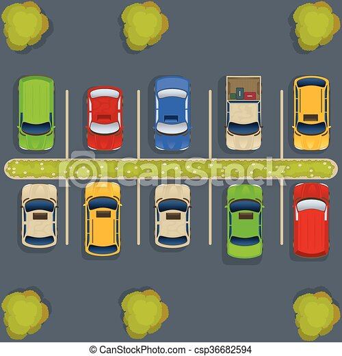 parking lot top view vector illustration of a parking lot eps rh canstockphoto com parking lot clip art free parking lot striping clipart