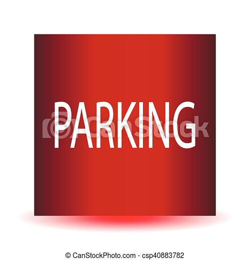???Parking red glossy web icon. - csp40883782