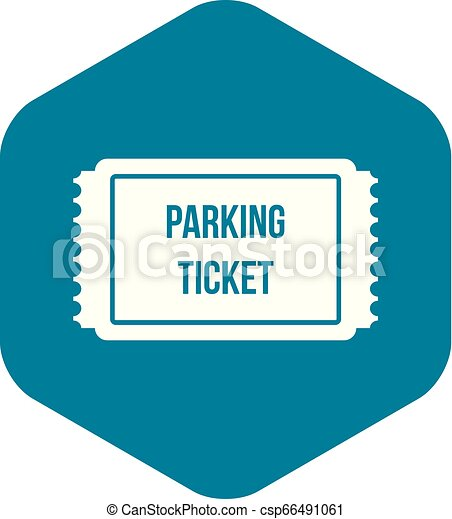 Parking ticket icon, simple style - csp66491061