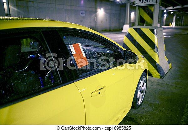 Parking Ticket on Car - csp16985825