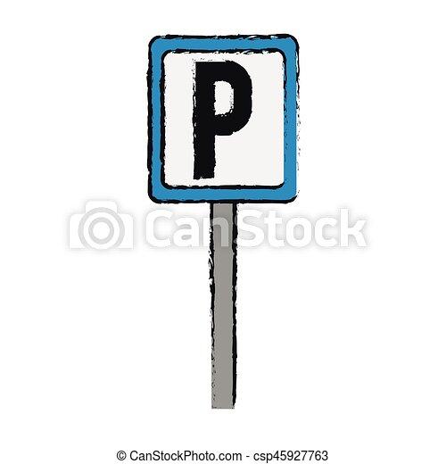 parking zone design - csp45927763