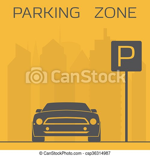 Parking zone sign - csp36314987