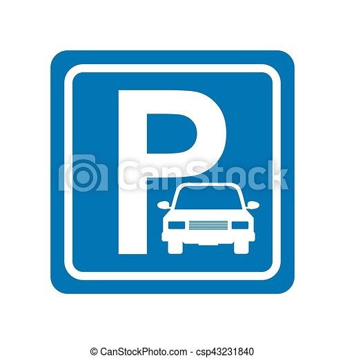 parking zone sign isolated icon - csp43231840
