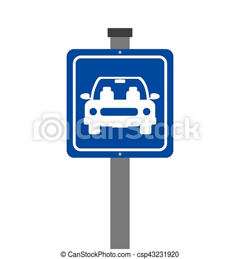 parking zone sign isolated icon - csp43231920