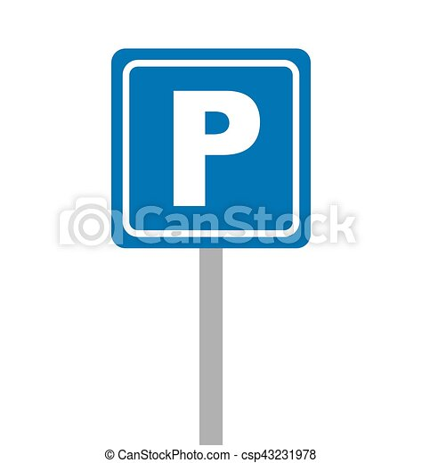 parking zone sign isolated icon - csp43231978