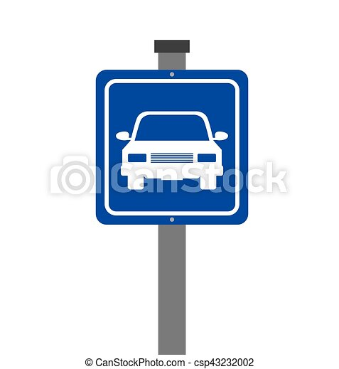 parking zone sign isolated icon - csp43232002