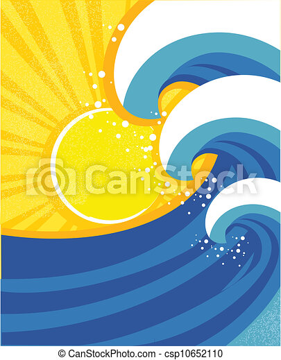 parkosít., poster., ábra, vektor, tenger, lenget - csp10652110