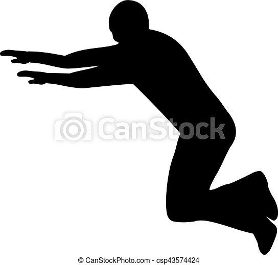 Saltador de parkour - csp43574424