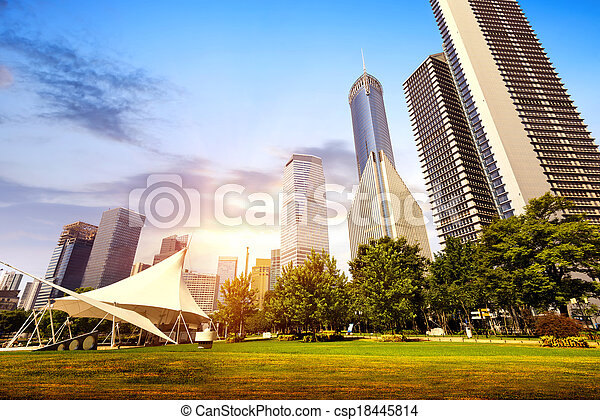 Parks and modern architecture - csp18445814