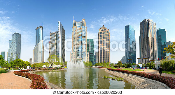 Parks and modern architecture - csp28020263