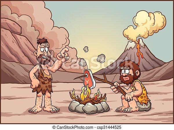 parlare, cavemen - csp31444525
