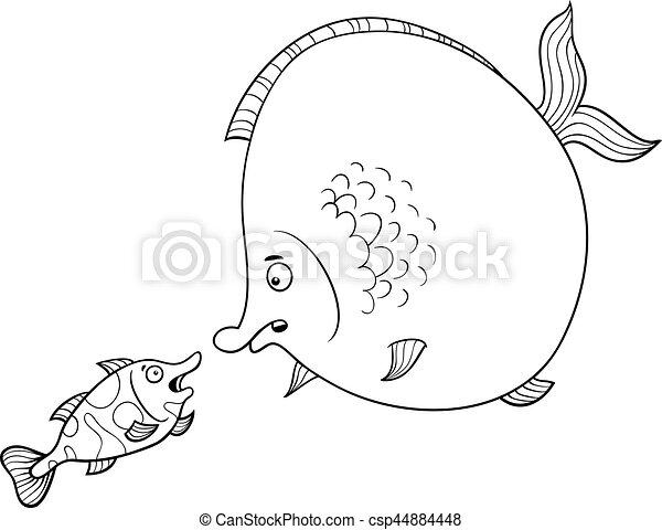 parlare, fish, coloritura, pagina - csp44884448