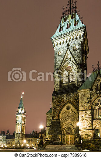 Parliament Building in Ottawa Canada - csp17309618