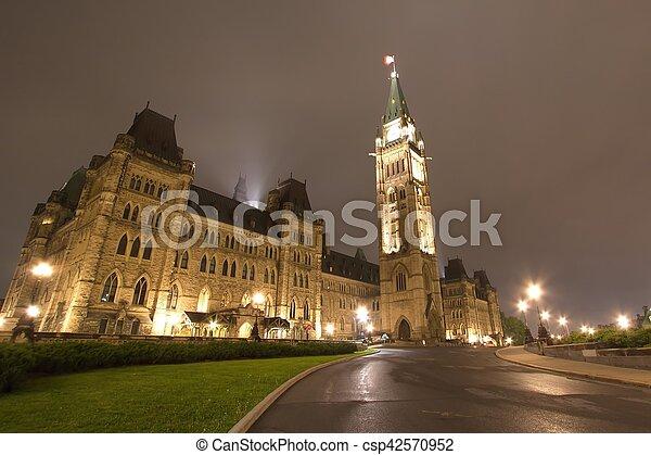Parliament Building, Ottawa, Canada - csp42570952